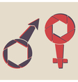 male and female signs vector image