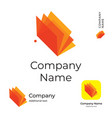 modern bright colorful book or brochure logo vector image