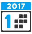2017 First Day Flat Icon vector image vector image