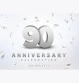 90 years silver number anniversary celebration vector image vector image