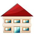A two-story single detached house vector image