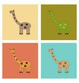 assembly flat icons kids toy giraffe vector image vector image