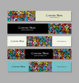 banners design ethnic vintage ornament vector image vector image