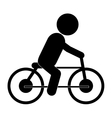bike riding pictogram icon vector image