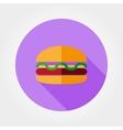 Burger icon vector image vector image