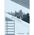 Business brochure flyer banner design vertical vector image