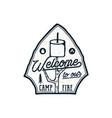 campsite logo emblem vintage hand drawn travel vector image vector image
