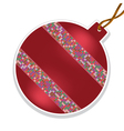 christmas ball with beads on white background vector image vector image