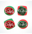 christmas sale banners label and stickers vector image