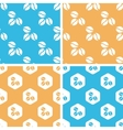 Coffee beans pattern set colored vector image vector image