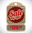 commerce tag design vector image vector image