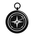 compass icon simple style vector image