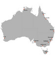 detailed map of the australia vector image vector image
