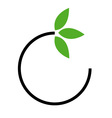 Eco friendly business logo vector image