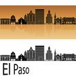 El Paso skyline in orange vector image vector image