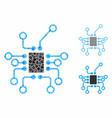 electronics mosaic icon bumpy items vector image vector image