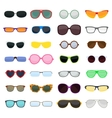 fashion glasses isolated on white vector image vector image