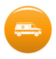 fast ambulance icon orange vector image vector image