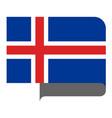 flag horizontal shape pointer for world map vector image
