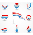 flags and icons of netherland vector image