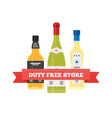 flat icon of duty free alcohol at airport vector image vector image