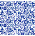 floral seamless folk art pattern scandi vector image vector image