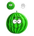 Green cartoon watermelon vector image