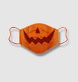 halloween surgical mask for coronavirus protection vector image vector image