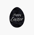 happy easter polygonal black egg isolated vector image