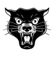 head panthera in old school tattoo style vector image vector image