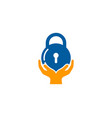 help security logo icon design vector image