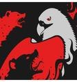 Hyenas attacks Eagle vector image vector image