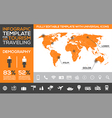 infographic template for tourism and traveling vector image vector image