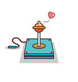 Isolated cartoon joystick with condom for safe sex vector image
