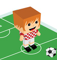 male cartoon soccer player vector image vector image