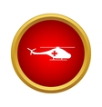 Medical helicopter icon simple style vector image vector image