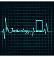 Medical technology concept -heartbeat smartphone i vector image