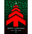 merry christmas and happy new year red arrow green vector image vector image