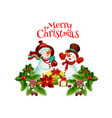 merry christmas happy holiday wish icon vector image vector image