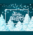 merry christmas template for holiday greeting vector image vector image