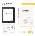 money converstion business logo tab app diary pvc vector image vector image