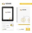 money converstion business logo tab app diary pvc vector image vector image