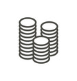 money icon line coin symbol vector image vector image