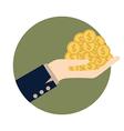 Money on hand vector image