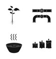 nature ecology industry and other web icon in vector image vector image