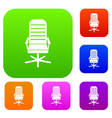 office chair set collection vector image vector image