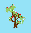 patriotic tree italy map italian flag national vector image vector image