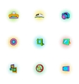 Photography icons set pop-art style vector image vector image