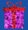 Polygon gift box vector image vector image