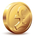 Pound coin vector image vector image